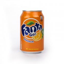 Orange fanta 33cl cans (pack 24 units)