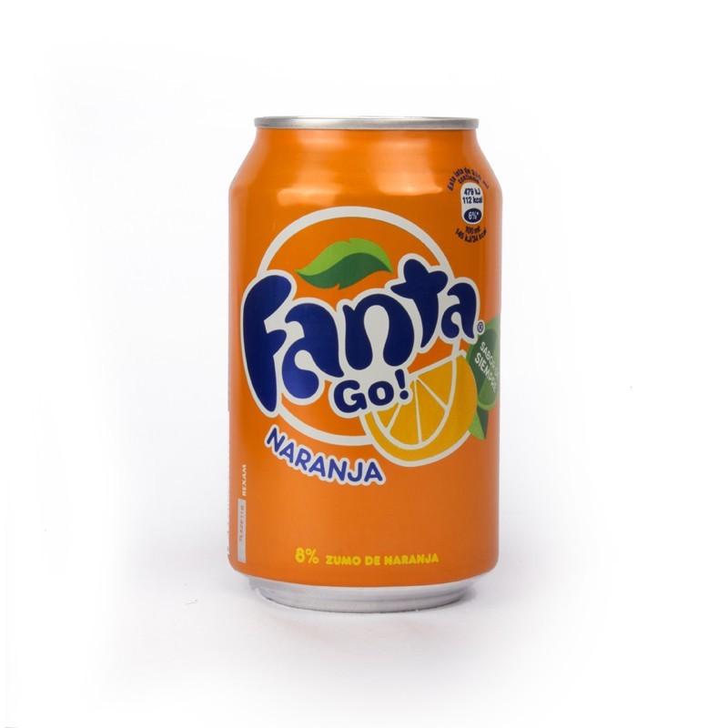 Orange fanta 33cl cans (pack 24 units)