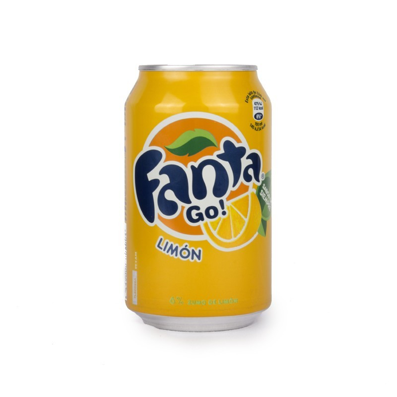 Lemon fanta 33cl cans (pack 24 units)