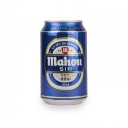 Cerveza Mahou sin alcohol lata 33 cl (pack 24 udes)