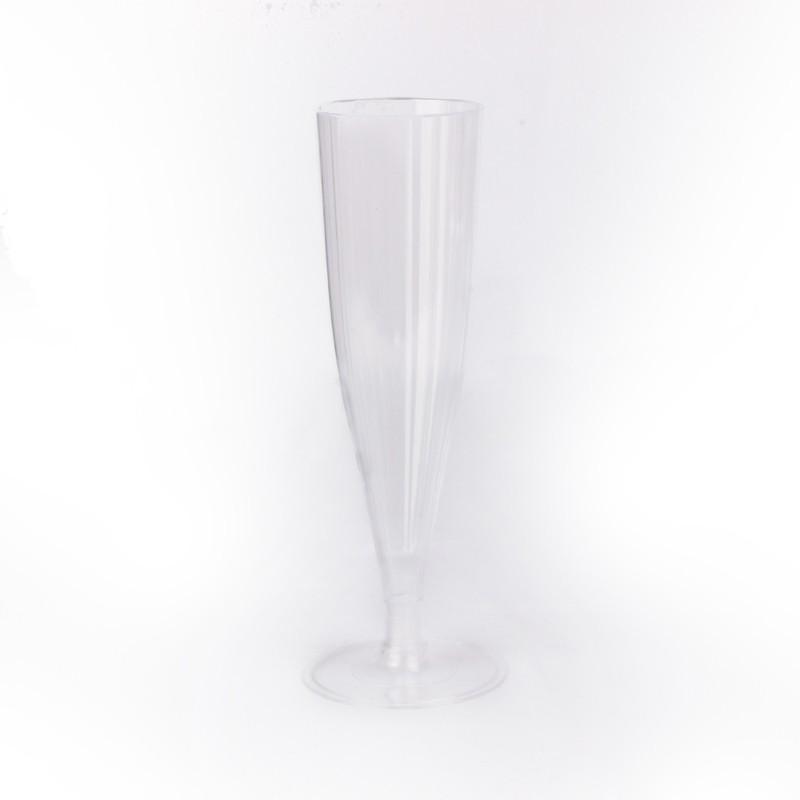Disposable champagne glasses (8 units)