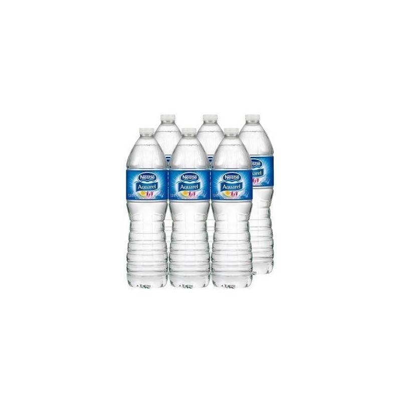 Agua mineral sin gas 1,5 lt (pack 6 udes)