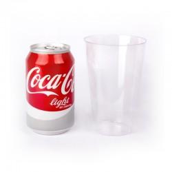 Vasos de refresco de plástico de alta calidad (25 udes)