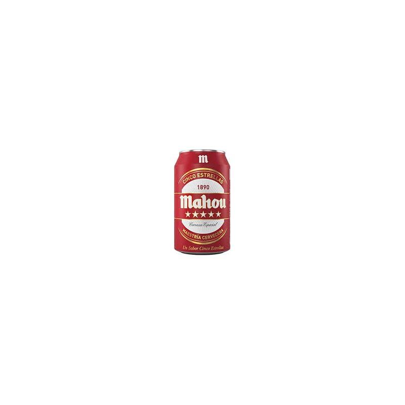 Domestic Beer Mahou 5 Estrellas  33cl cans (pack 24 units)
